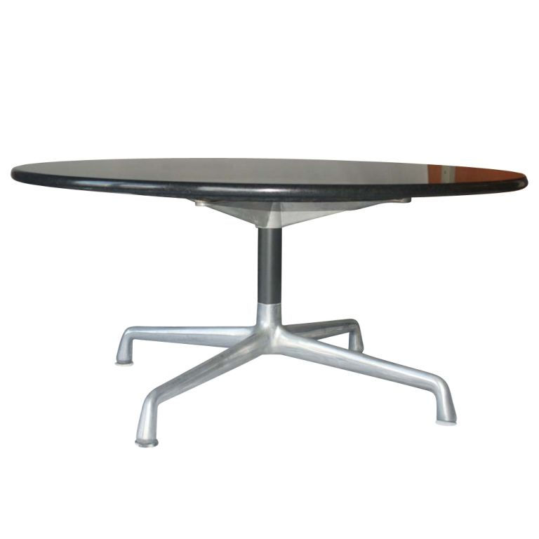 Eames For Herman Miller Granite Aluminum Group Coffee Table At 1stdibs