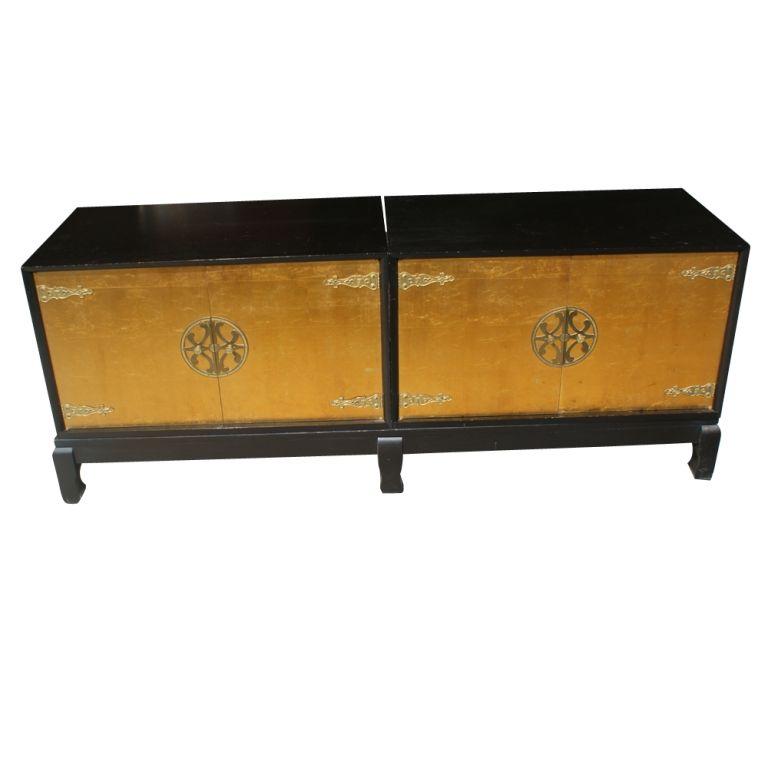 Renzo Rutili for Johnson Furniture Asian Motif Cabinet For Sale