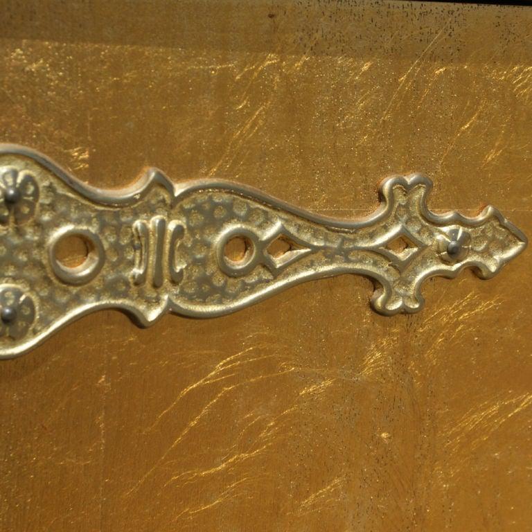 Bronze Renzo Rutili for Johnson Furniture Asian Motif Cabinet For Sale