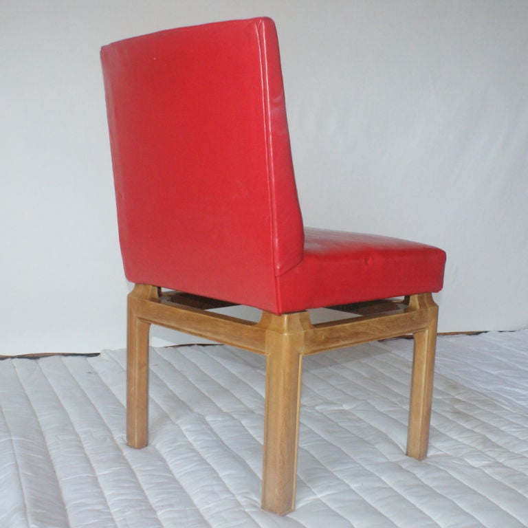Six Dining Chairs by Michael Taylor for Baker In Good Condition For Sale In Pasadena, TX