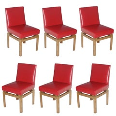 Six Dining Chairs by Michael Taylor for Baker