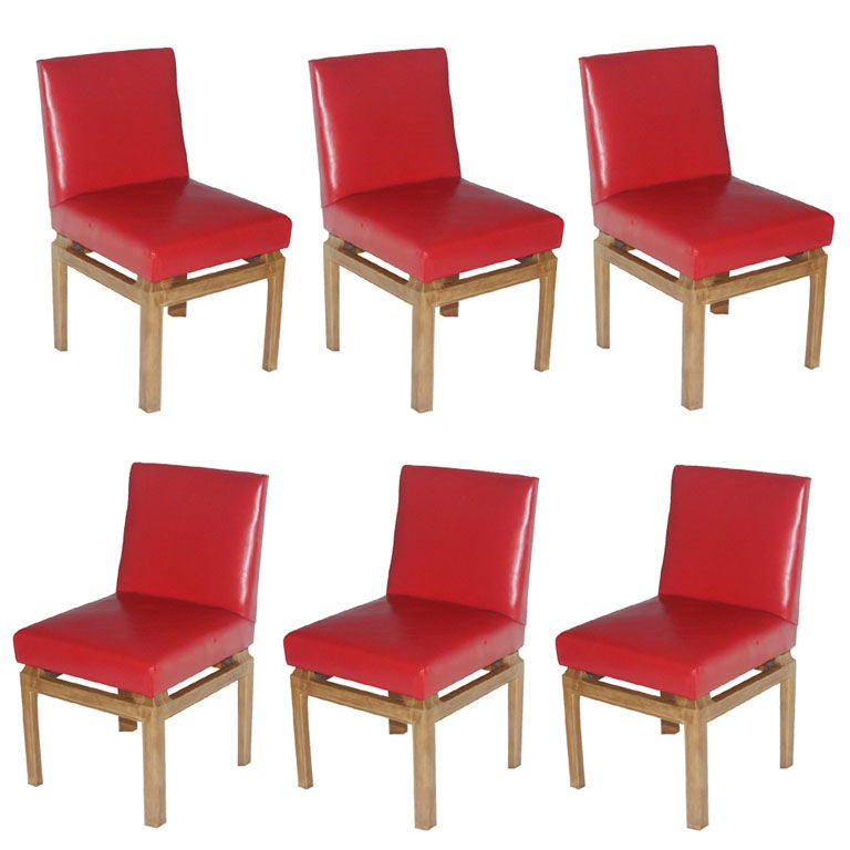 Six Dining Chairs by Michael Taylor for Baker For Sale