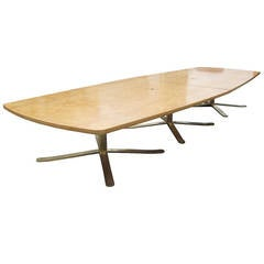Vintage Maple Zographos Conference Table with Custom-Made Wood Top