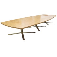 16ft Vintage Birdseye Maple Zographos Conference Table