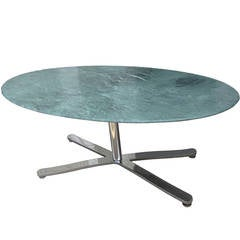 Oval Green Marble Zographos Alpha Table or Desk