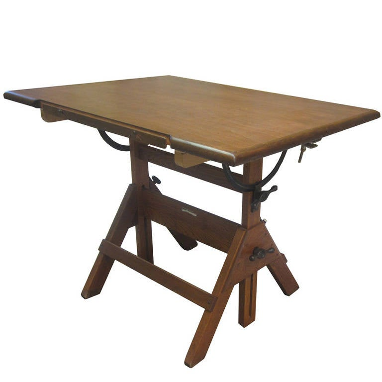 Antique Drafting Table Restoration Hardware Home Design