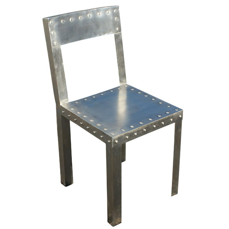 eight industrial metal dining chairs at 1stdibs