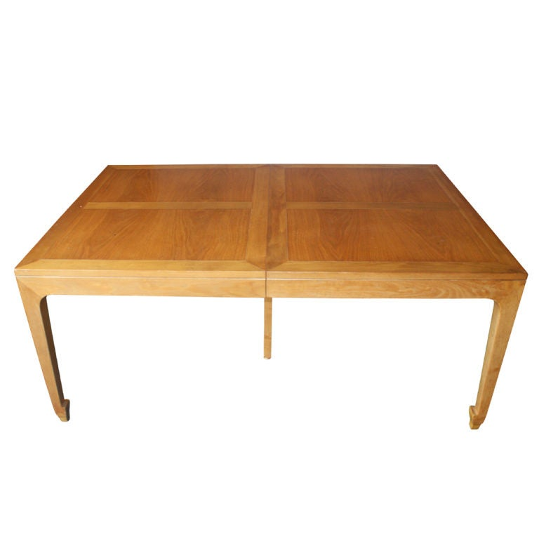 michael taylor for baker large extension dining table at