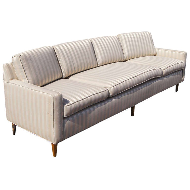 Large curved four seater sofa couch for sale at 1stdibs for Sofa couch for sale
