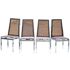 Set of 4 Vintage Mid Century Dining Chairs by Milo Baughman