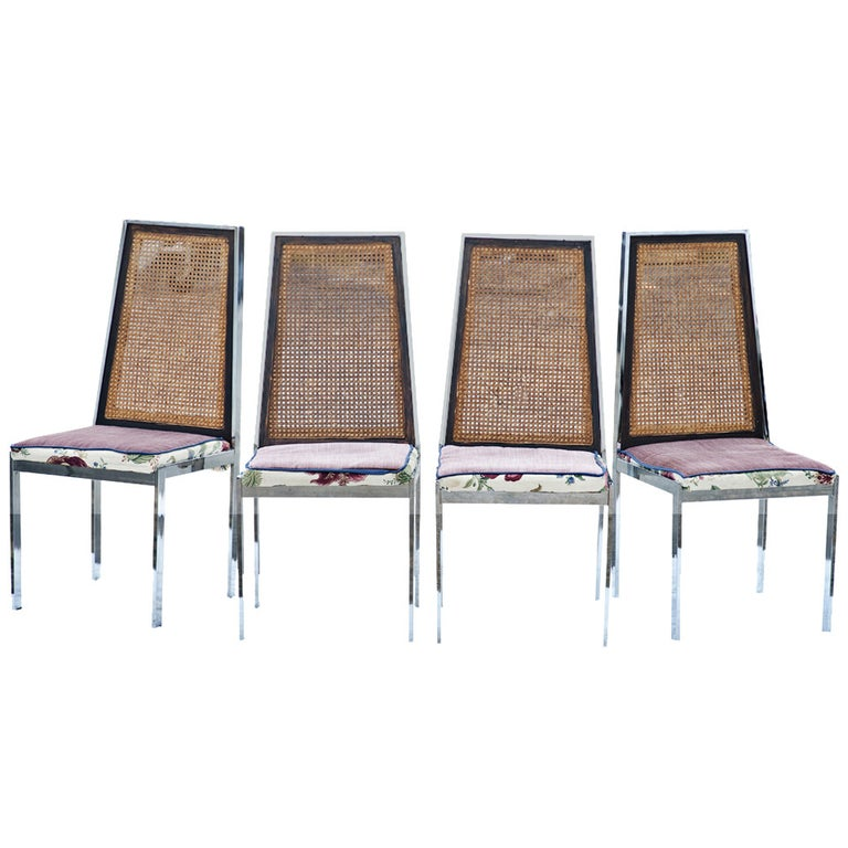 Set of 4 Vintage Mid Century Dining Chairs For Sale