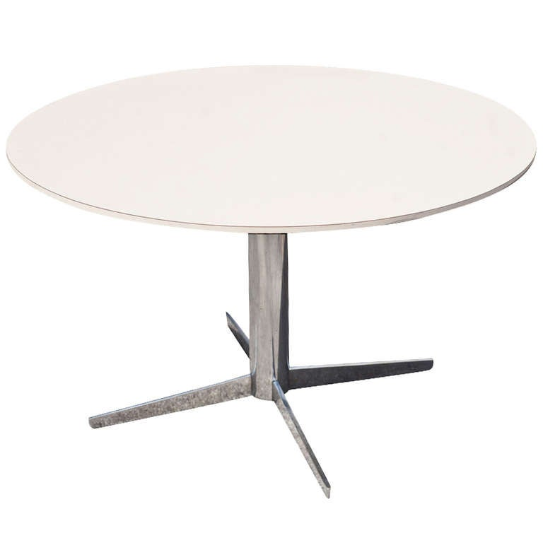 Vintage Dinette Table On A Chrome Base For Sale At 1stdibs