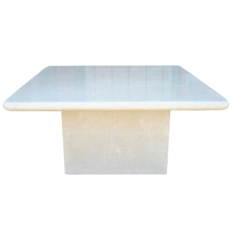 Crema Marfil Marble Occasional Table Made In Spain