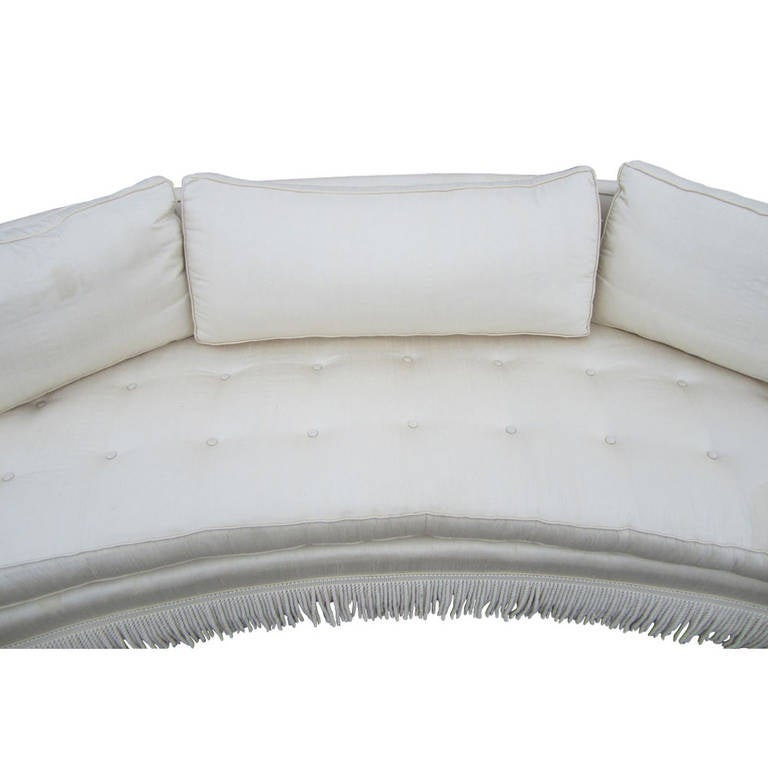 Vintage Curved Sofa by Harvey Probber For Sale 5