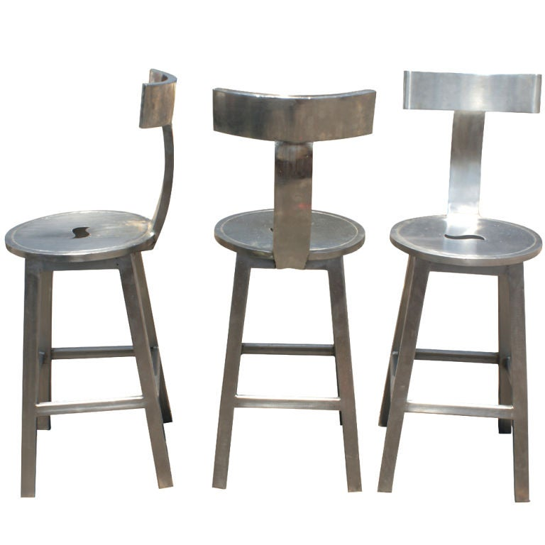 industrial adjustable metal bar stool brew haus style stools with scooped backs three polished steel target