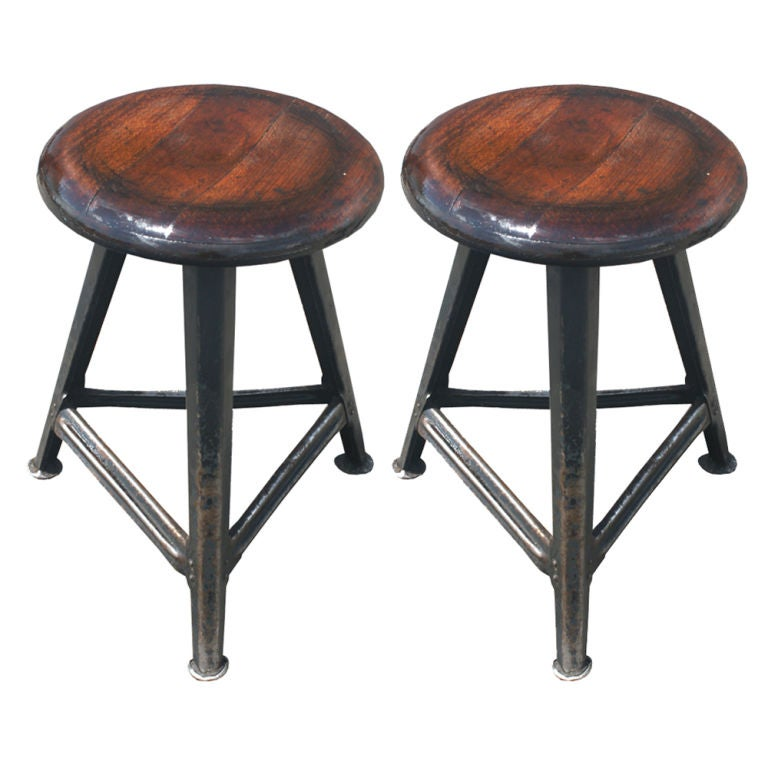Pair of French Industrial Stools at 1stdibs : 867112799951551 from 1stdibs.com size 768 x 768 jpeg 54kB
