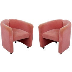 Pair of Tecno Mohair Lounge Chairs