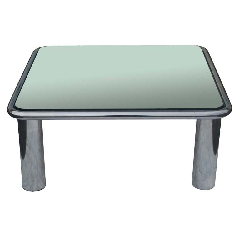 Mario Bellini For B B Italia Mirrored Chrome Coffee Table At 1stdibs