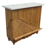 Rattan Granite Top Bar With Two Stools thumbnail 2