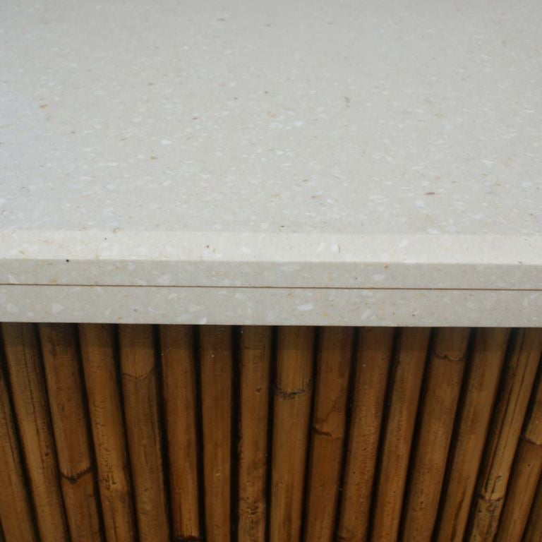 Rattan Granite Top Bar With Two Stools image 5