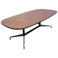Vintage Herman Miller Eames Aluminum Group Racetrack Conference Table