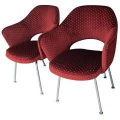 Two Vintage Eero Saarinen Executive Armchairs for Knoll