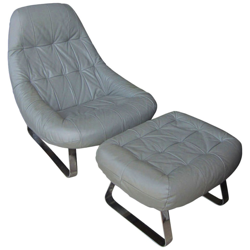 Beau Vintage Percival Lafer Earth Chair And Ottoman For Sale At 1stdibs