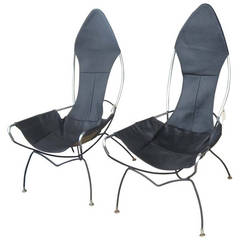 Pair of Vintage Tony Paul Sling Chairs