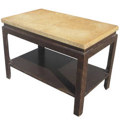 Vintage Art Deco Cork Side Table Designed by Paul Frankl