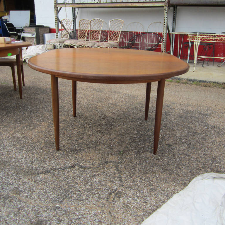 A Vintage Danish Oval Dining Table Designed By Ib Kofod Larsen And  Manufactured By G