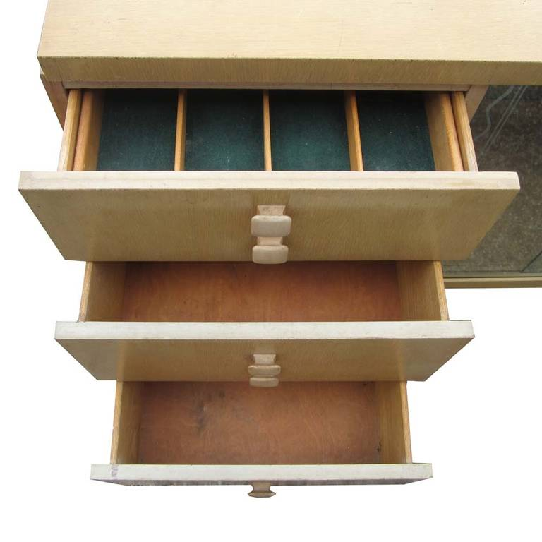 Vintage Architectural Modern China Hutch Designed by ...  |Morris California Furniture