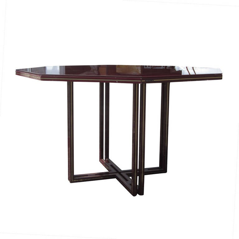 52quot Vintage Pierre Vandel Octagonal Glass Dining Table at  : acy96pierrevandeltable03l from www.1stdibs.com size 768 x 768 jpeg 25kB