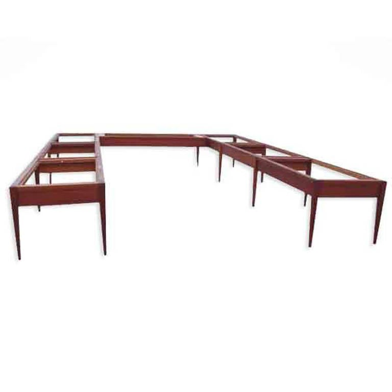 Monumental Custom Roger Deatherage Solid Mahogany Conference Table - 18 ft conference table