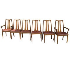Six Vintage Danish Mid-Century Modern Dining Chairs