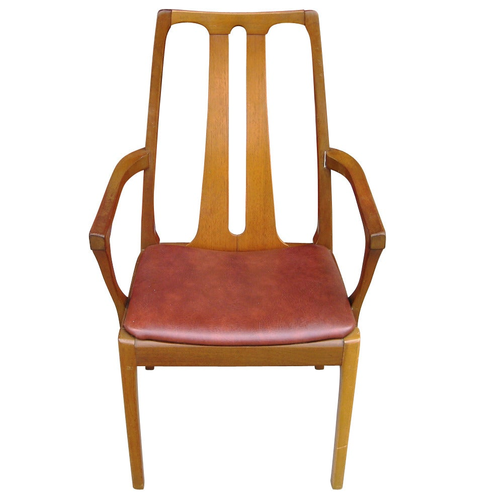 six vintage danish mid century modern dining chairs at 1stdibs
