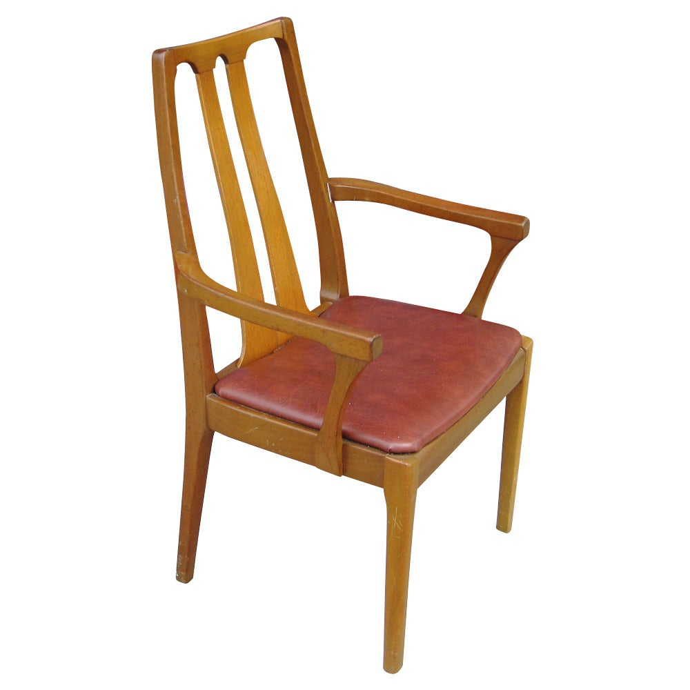 Six vintage danish mid century modern dining chairs at 1stdibs for Mid century danish modern chair