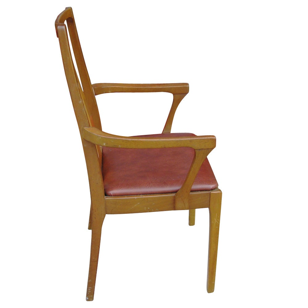 six vintage danish mid century modern dining chairs for sale at