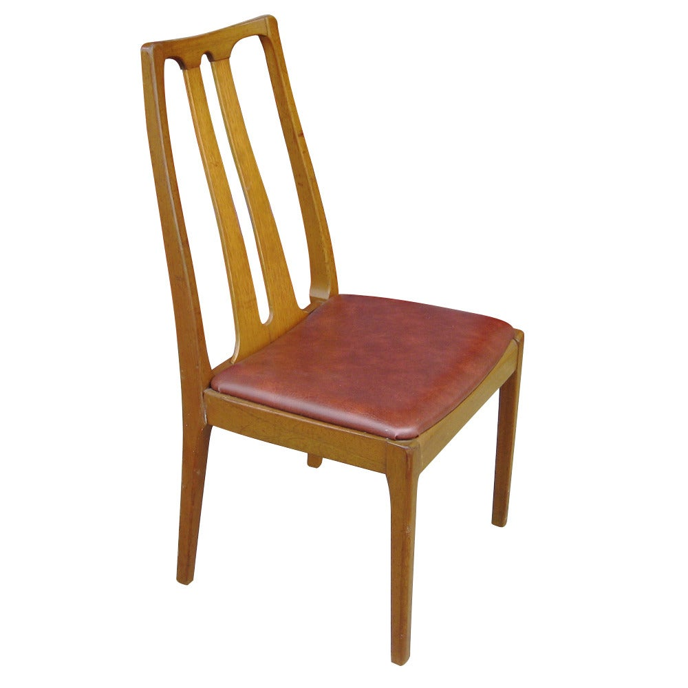 Six vintage danish mid century modern dining chairs at 1stdibs for Retro modern dining chairs