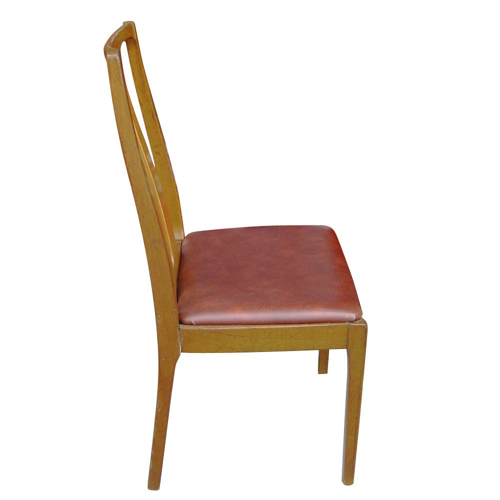 Six vintage danish mid century modern dining chairs at 1stdibs for Contemporary designer dining chairs