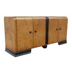 Art Deco Burl Buffet Credenza