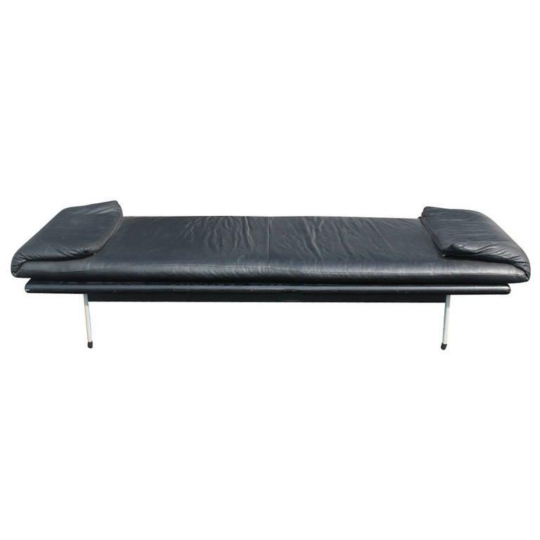 vintage brayton black leather daybed bench for sale at 1stdibs On leather daybed bench