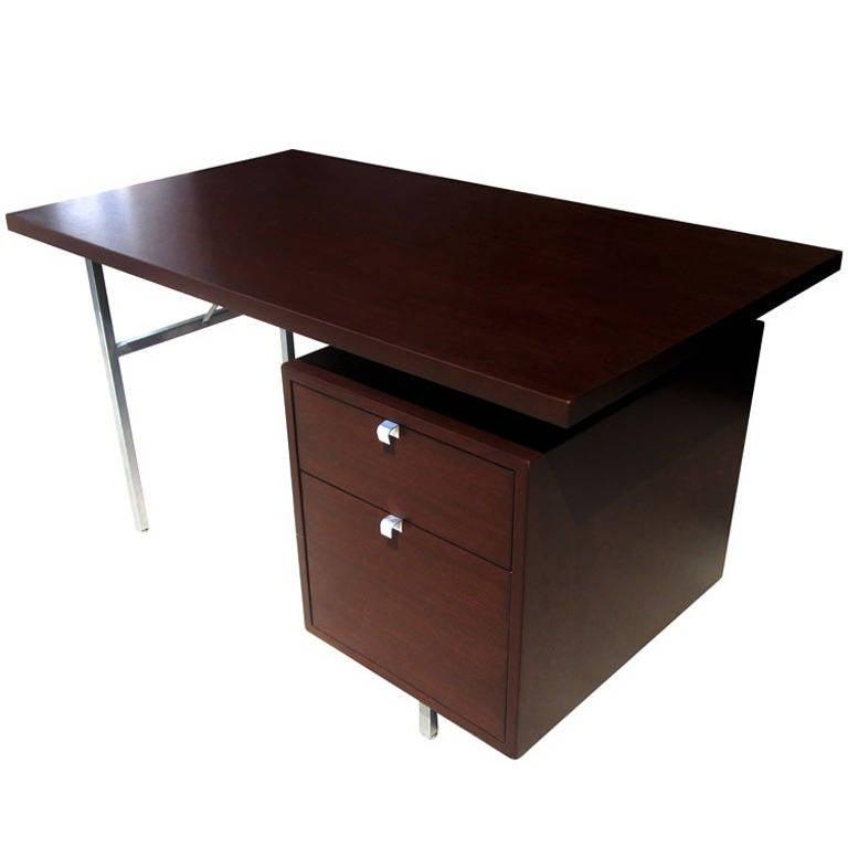 """54"""" Vintage Single Pedestal Desk by George Nelson for Herman Miller"""