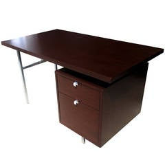 "54"" Vintage Single Pedestal Desk by George Nelson for Herman Miller"
