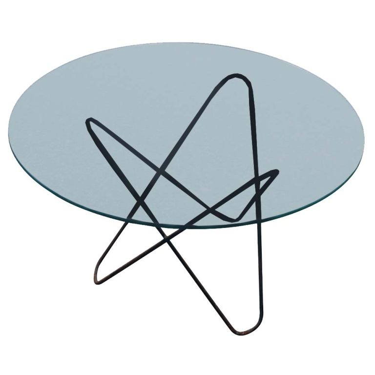 Hardoy Iron And Glass Butterfly Coffee Table 1