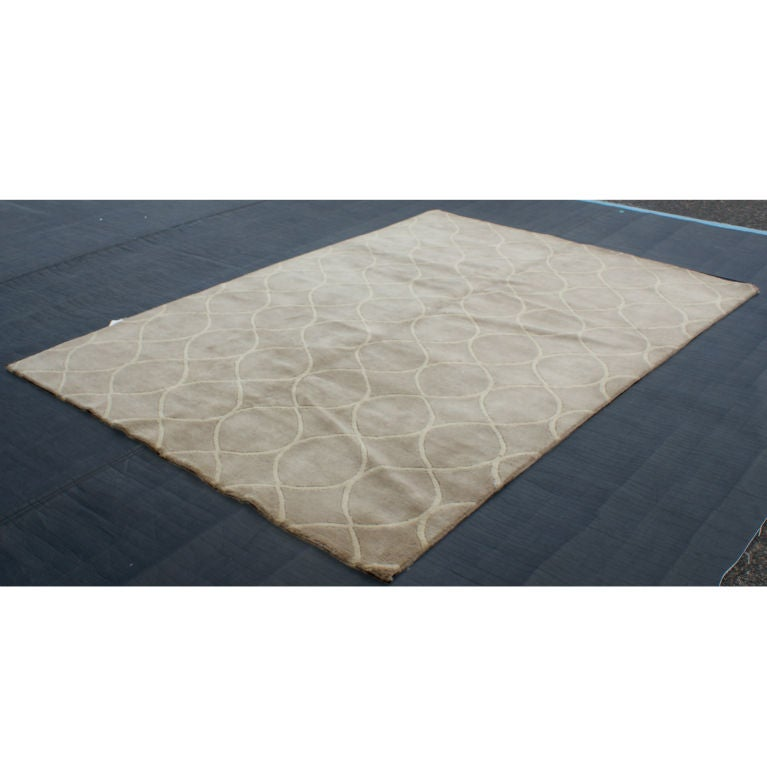 Modern Indian Hand Woven Wool Rug At 1stdibs