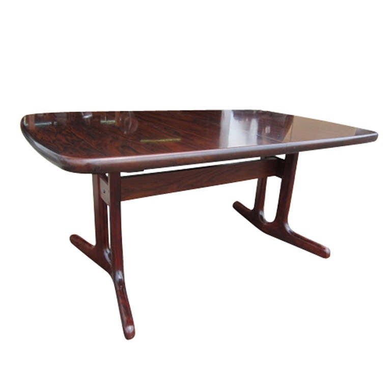 Dyrlund Danish Modern Scandinavian Rosewood Dining Table 2
