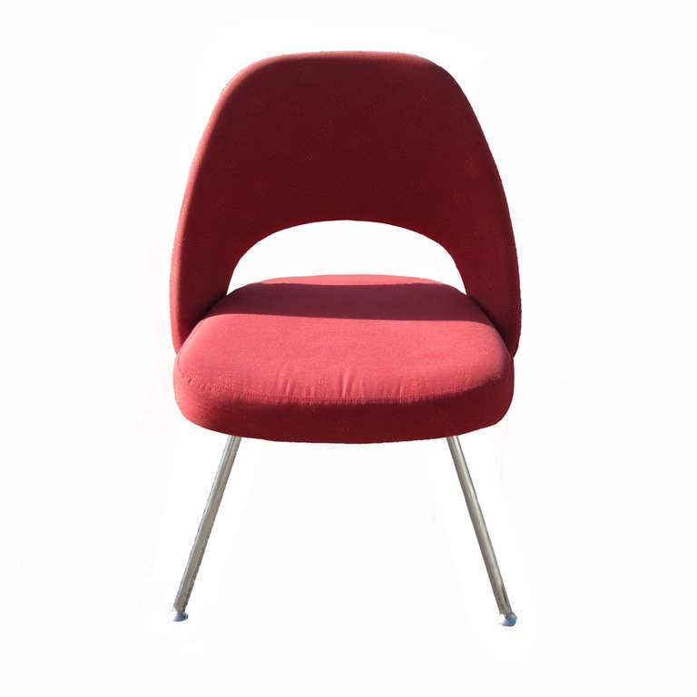 Knoll Star Struck NanoTex Performance Uphoplstery  Tubular metal legs with plastic floor glides (3) Three sets of six chair (6) each available