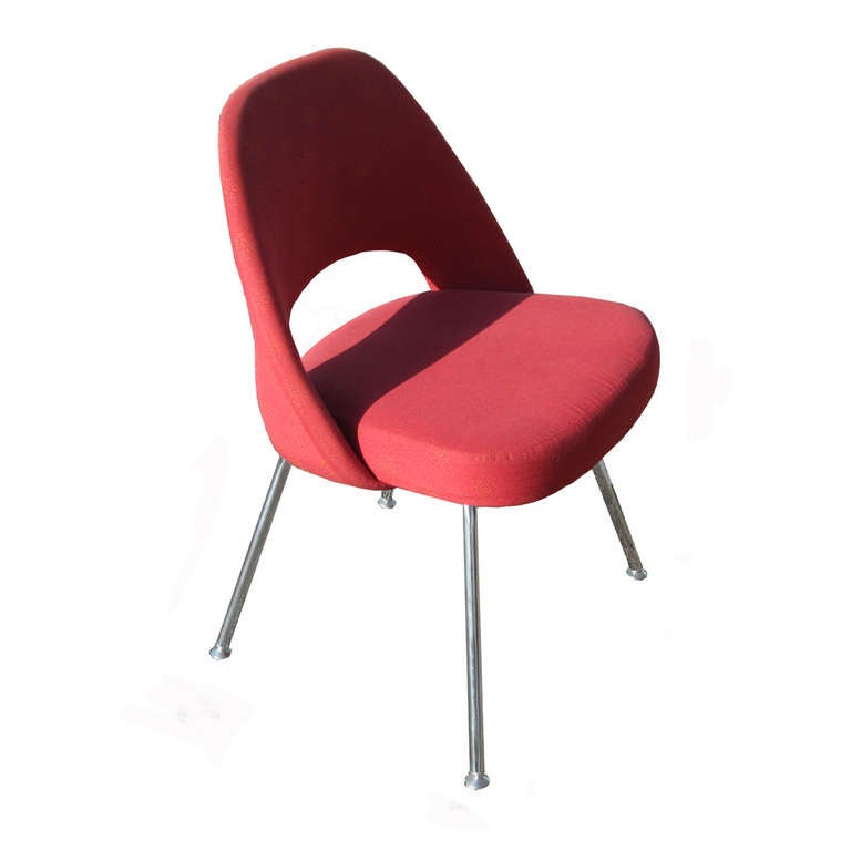 Mid-Century Modern (6) Contemporary Knoll Eero Saarinen 72C-PC Dining Side Chairs For Sale