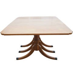 Five to Eight Foot Vintage Mahogany Dining Table with Drop Leaves by Rway