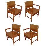 Four Erik Ekselius For JOC Design Arm Chairs